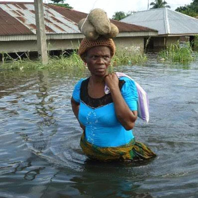 Flood victims in Orashi region