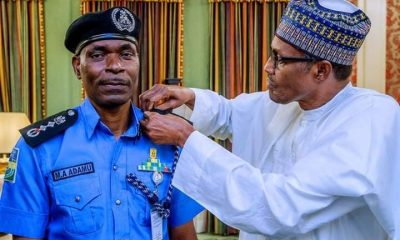 Buhari Decorates New IGP Abubakar Adamu