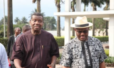 Pastor Adeboye visits Governor Wike